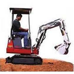 Mini Excavator $249.99 Day